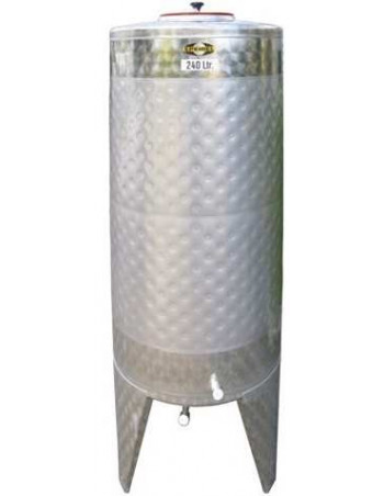 CUVE INOX 330L AVEC DOUBLE PAROI 1,3m²