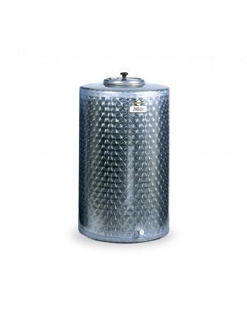 CUVE INOX 240 L FOND PLAT