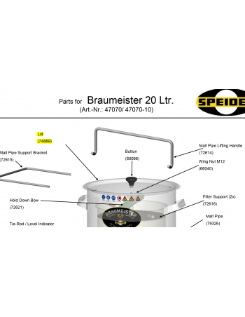 COUVERCLE BRAUMEISTER 20L